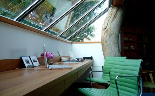 built in home office desk