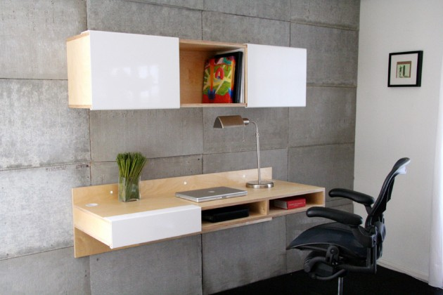 10 modern home office desks ideal for work inspiration for Lax wall mounted desk