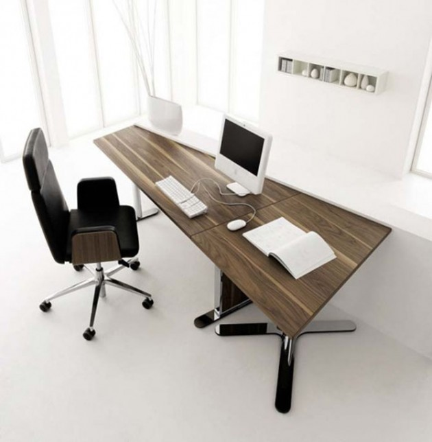 Modern Home Office Desk by Huelsta