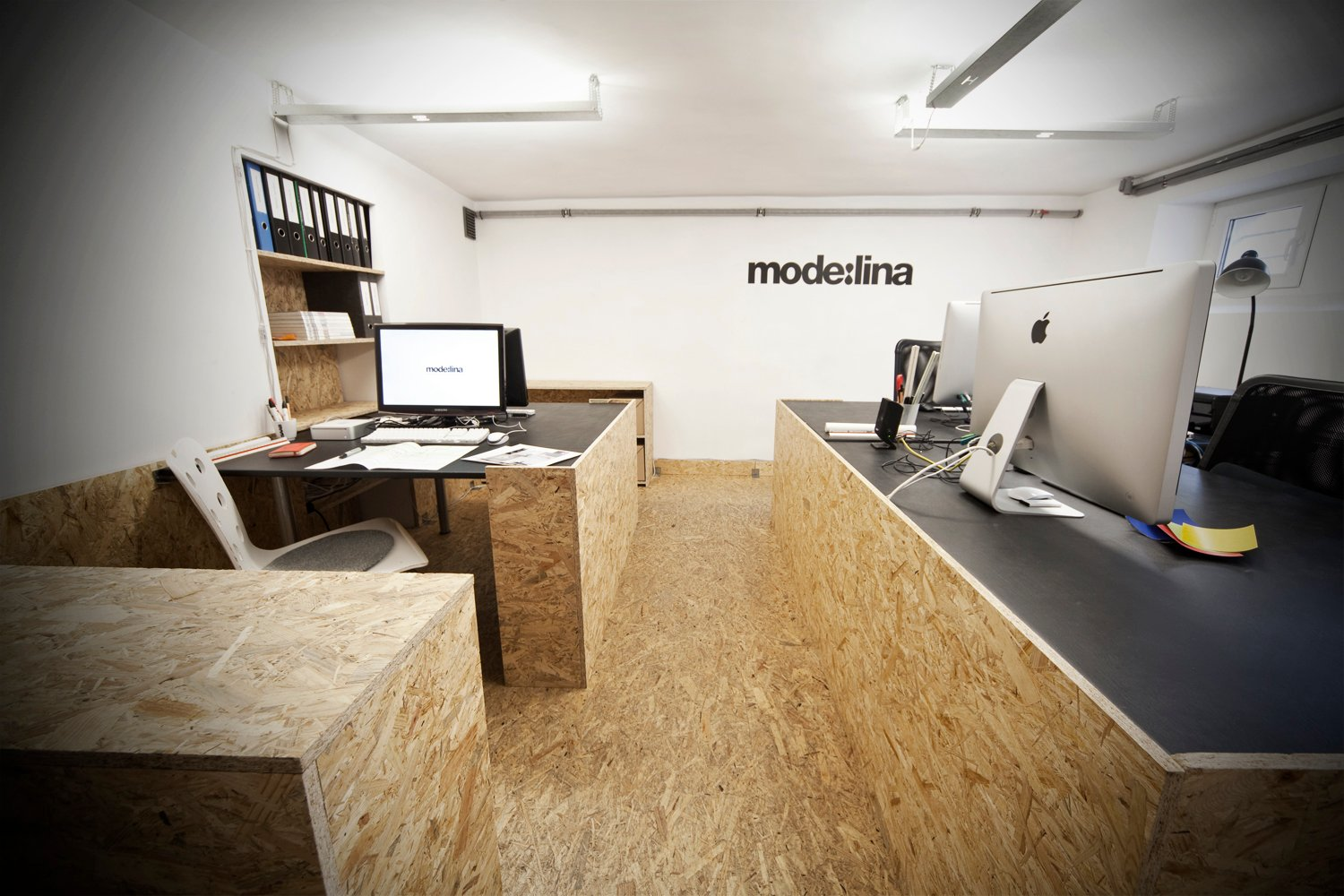 interior design office ideas. The Designers From Mode:lina Have Managed To Do A Great Job By Using Cheap OSB Decorate Their Office. It Might Look Simple At First Sight But Idea Is Interior Design Office Ideas