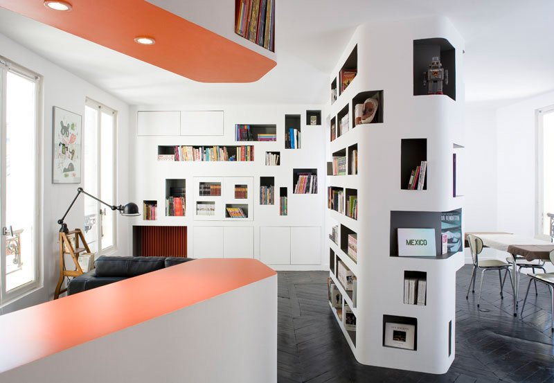 Vivid interior design coming from h20 architects