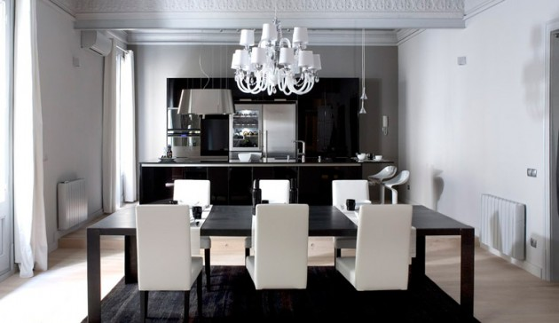 5 Modern Black White Apartments With Amazing Interior Designs,Small Apartment Plans India