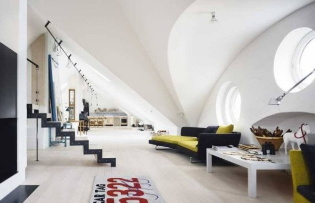 Stockholm Penthouse With Geometric Shapes