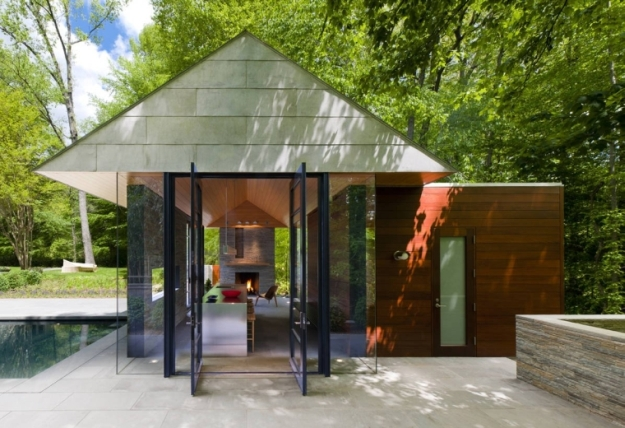 Garden Pavilion And Swimming Pool In A Fresh Decor
