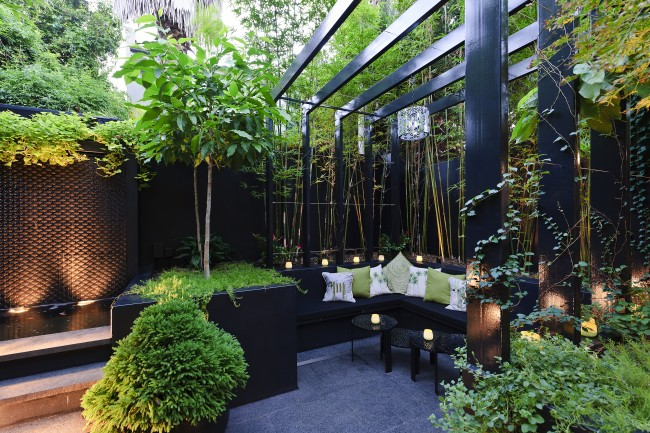 Elegant Courtyard Refreshes The Urban Space With Lots Of Green