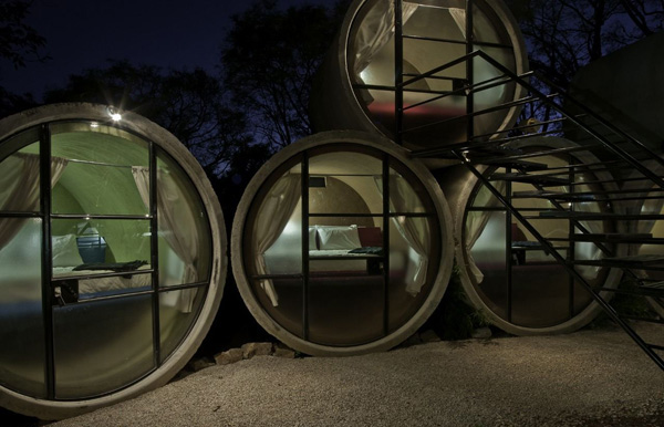 TuboHotel Offers Cheap Accomodation In Concrete Pipes