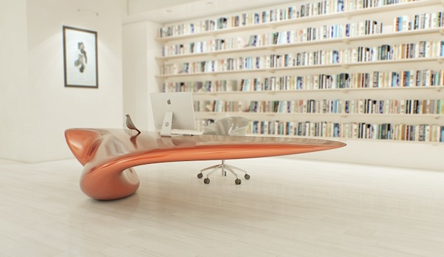 A New Kind Of Office Style With Volna Table By Nuvist