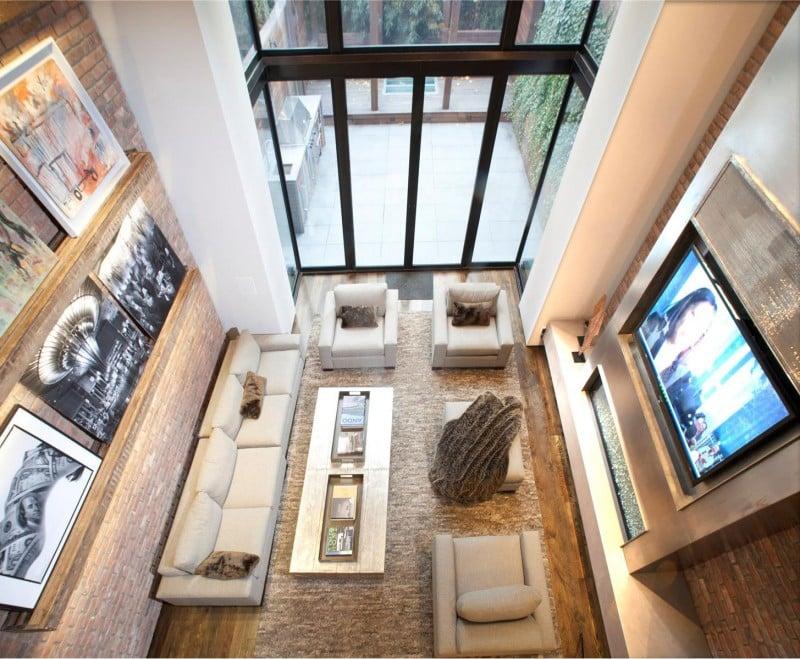 Modern townhouse near new york city spread on seven floors for New york townhouse interior