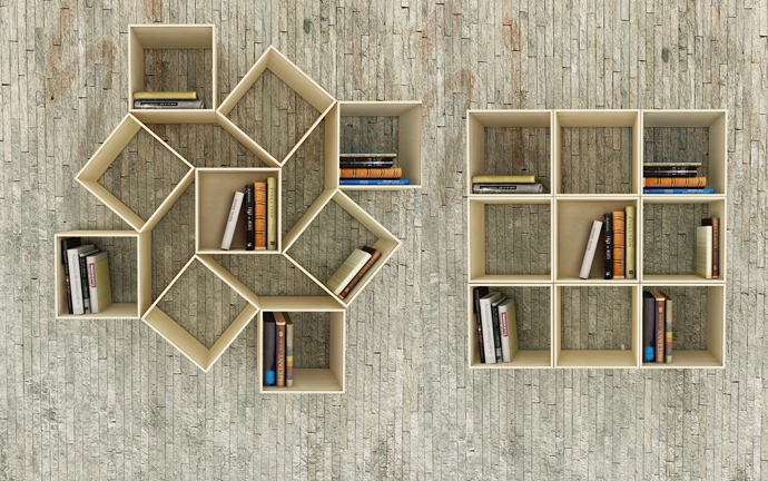 One Set Of Bookshelves Unlimited Ways Arrangement