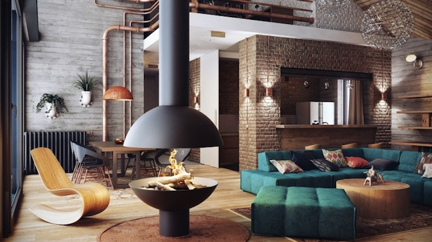 Contemporary Luxe Loft With A Reminiscent Industrial Look