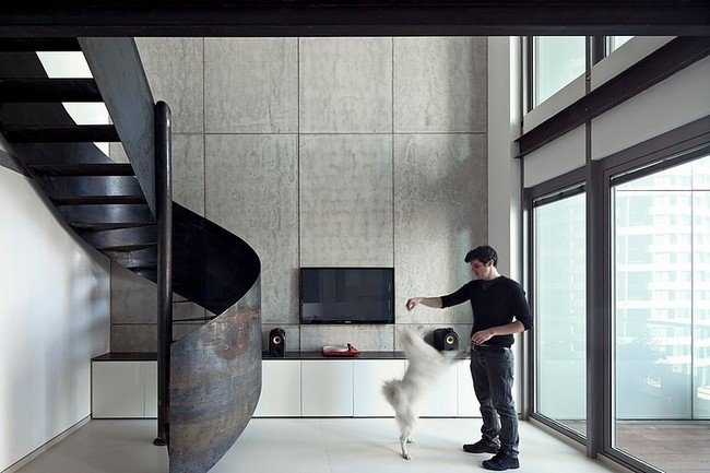 Nam Dger Apartment Has A Twist The Spiral Steel Staircase