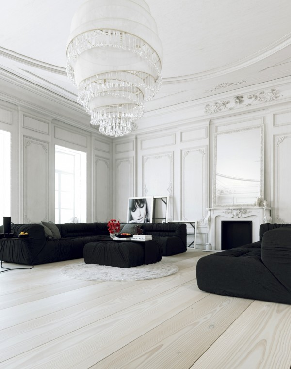White Parisian Apartment Abounds In Elegance