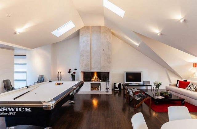 Open floor plans with loft Ceiling Swedishurbanloft2 Nimvo Interior Design Luxury Homes Swedish Urban Loft Has Stunning Open Floor Plan