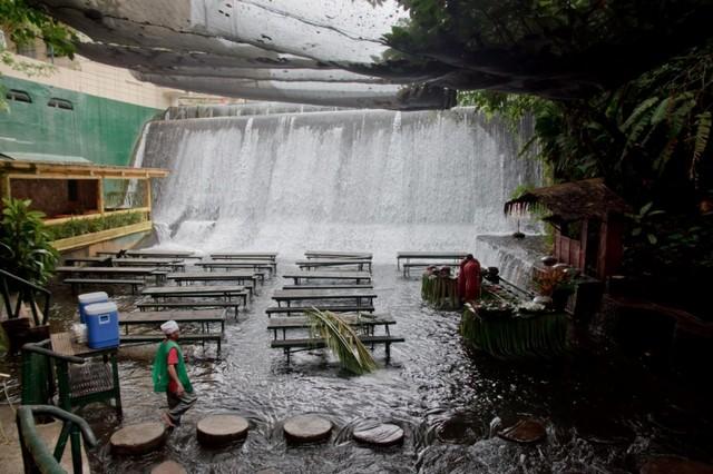 Villa Escudero Has The Unique Waterfalls Restaurant
