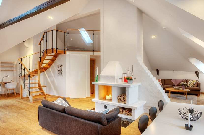 Stockholm Penthouse Apartments With Incredibly High Ceilings