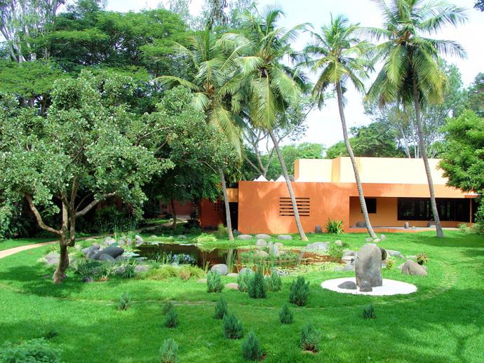 Douceur house has the most inspiring zen garden for Garden house in india