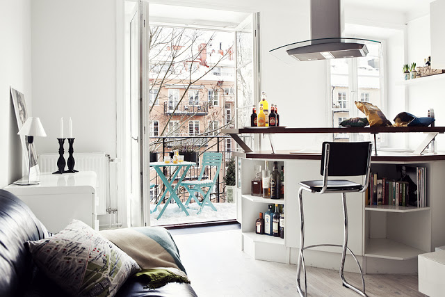 Swedish Apartment Design small swedish apartment with an eye-catchy design