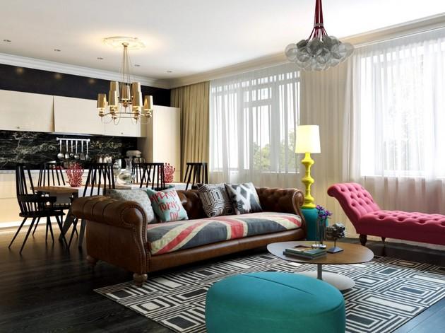 Bold Apartment With Pop Art Influences