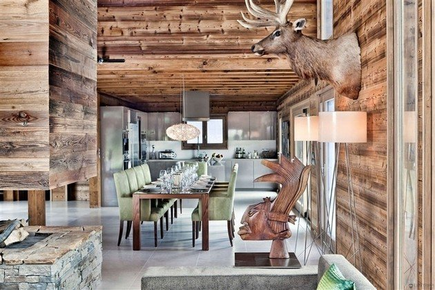 One Oak Chalet In The French Alps