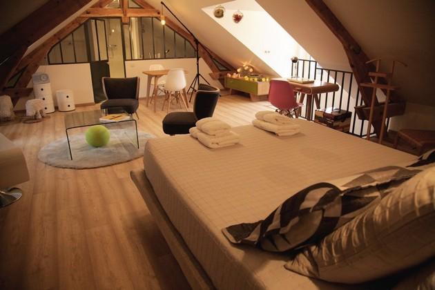 The Attic Guest Room Chez Ric Et Fer