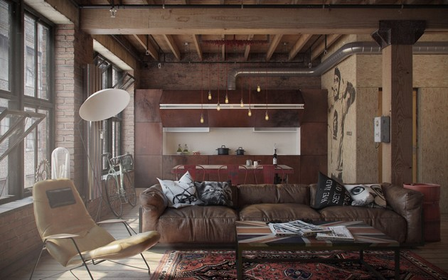 Industrial Loft As The Perfect Bachelor Retreat