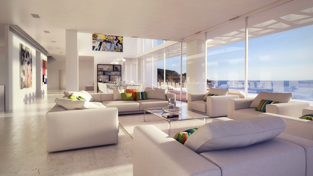 Luxury Beachfront Residence On A Cliffside Overlooking The