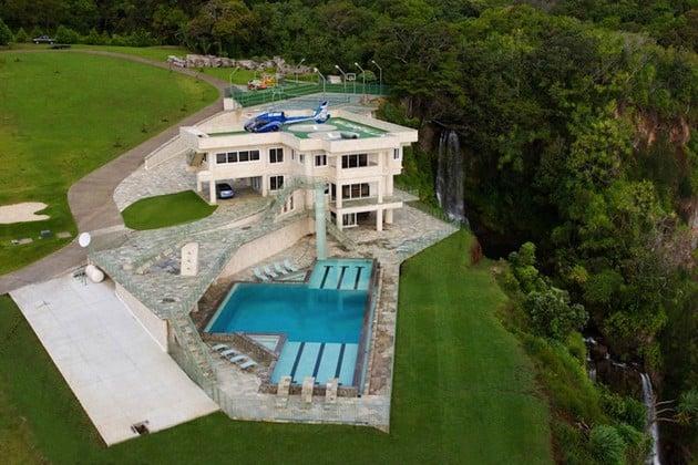 Luxury Hawaiian Mansion Featuring A Helipad On The Roof