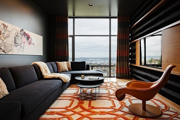 4,000 Square Foot Nob Hill Penthouse By Maven Interiors