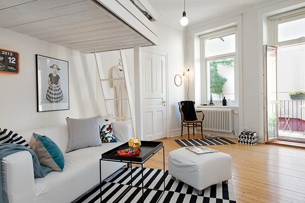 Old Swedish Apartment Of Only 41 Square Meters