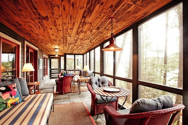 The Very Warm Interior Of Red Stone Lake House