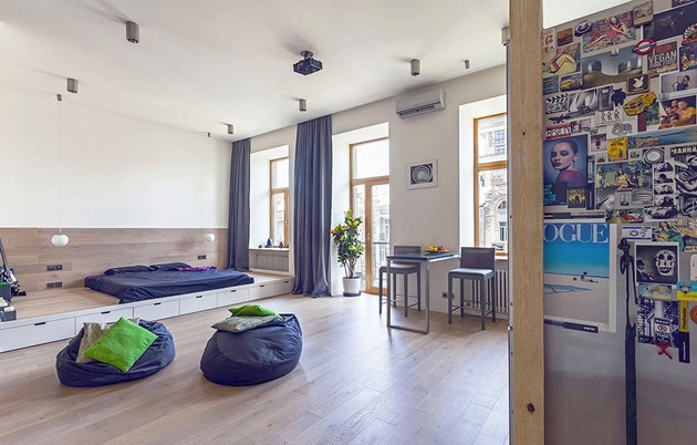 Studio Apartment In Kiev Suitable For Young Spirits