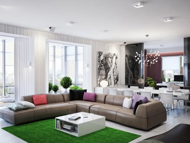 Sleek And Chic Ukrainian Apartment By Azovskiy & Pahomova Architects