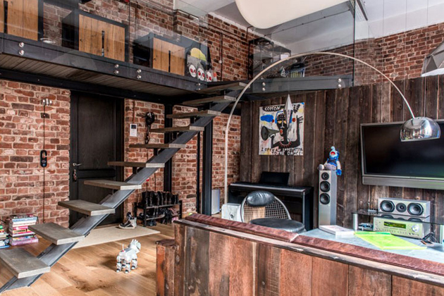 This Bachelor Pad Takes An Industrial Approach