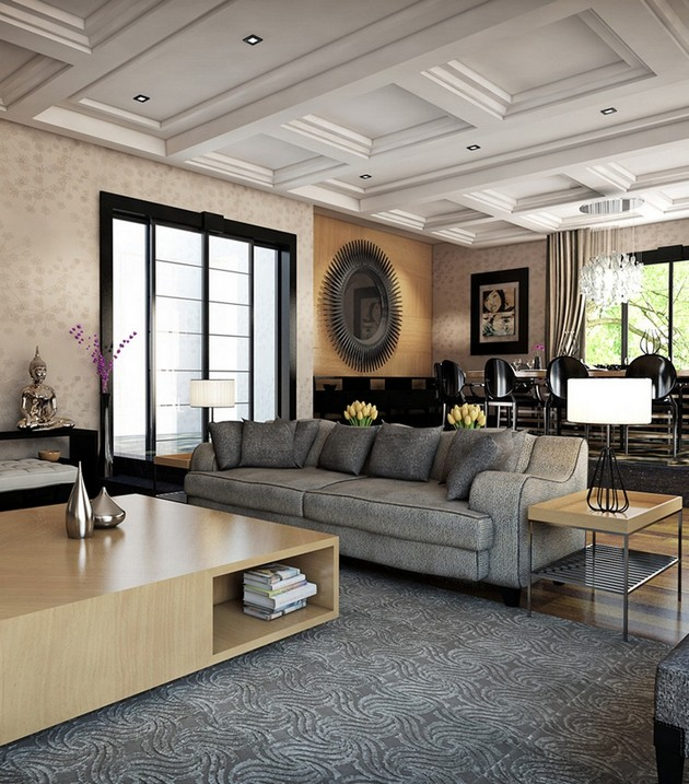 Chic Elegance Of Neutral Colors For The Living Room 10 Amazing Examples: Elegant Living Room Of 60 Square Meters