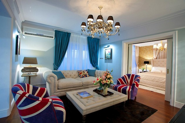Russian Apartment With Union Jack Motives