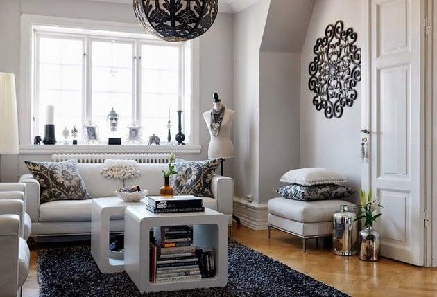 Swedish Apartment With A Feminine Look