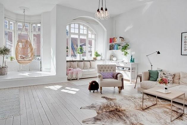 Serene Swedish Apartment With A Joyful Design