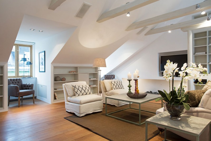 A Charming Attic Apartment From Sweden