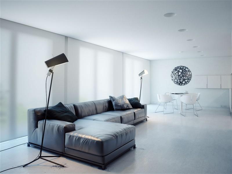Stylish Minimalism Inside The Q Apartment By MODOM