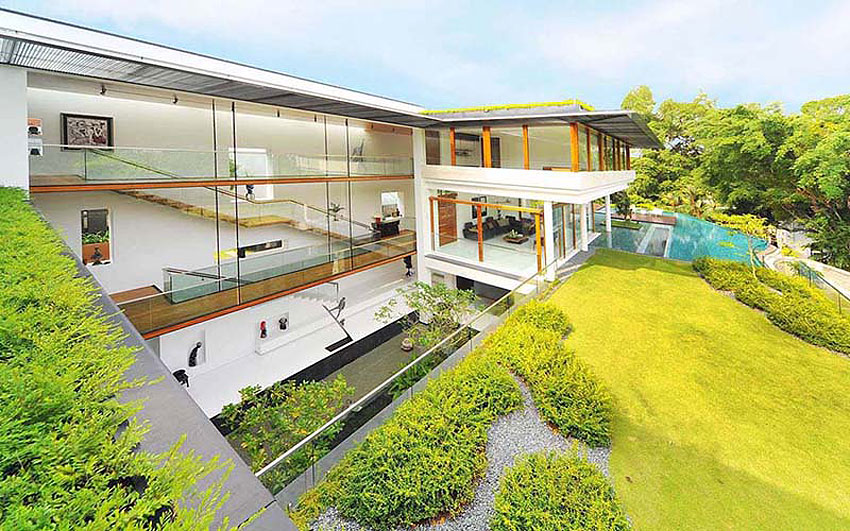 The dalvey road house welcomes nature inside - Houses woods nature integrated ...