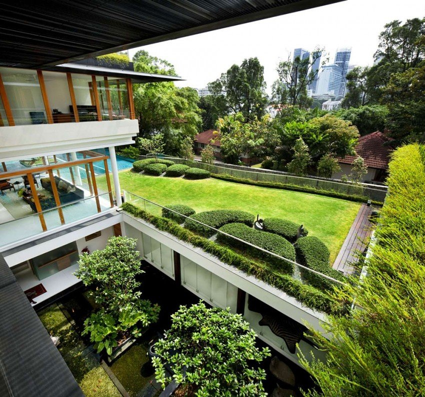 The Dalvey Road House Welcomes Nature Inside