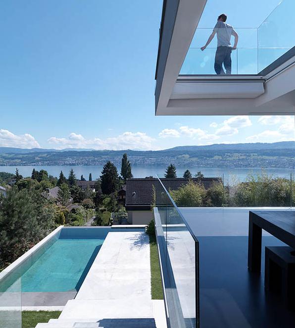 The feldbalz house from zurich enjoys some astonishing views