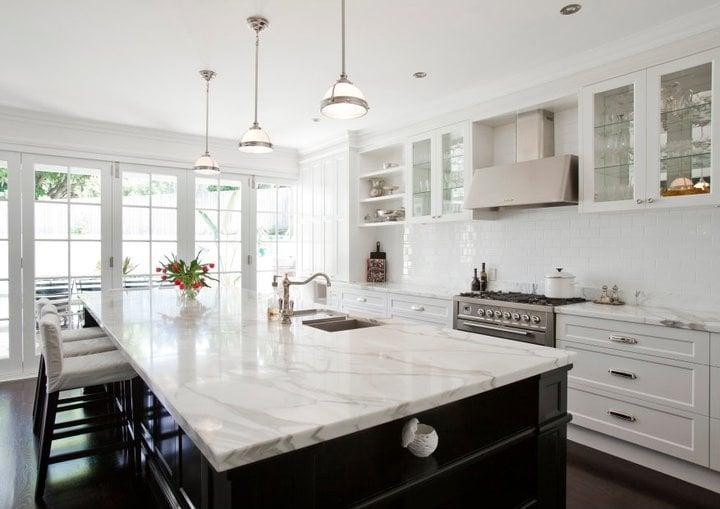 Cheap White Kitchen With Marble Countertops Part - 19: Nimvo U2013 Interior Design U0026 Luxury Homes