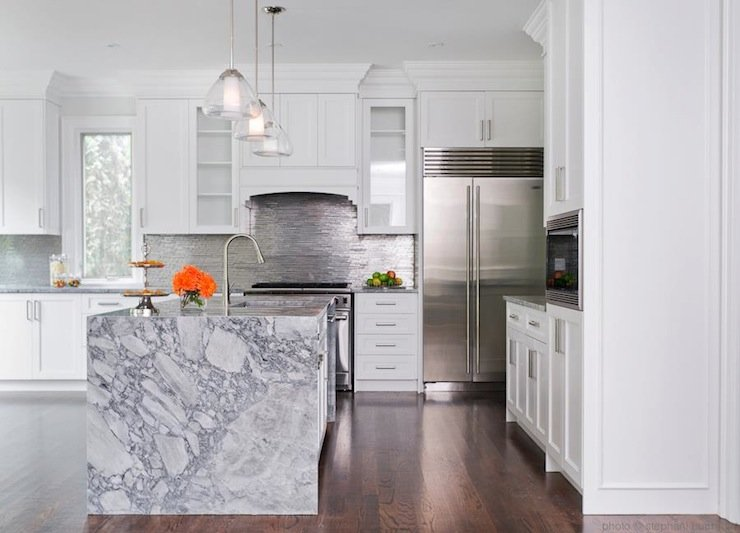 20 of the Most Gorgeous Marble Kitchen Island Ideas