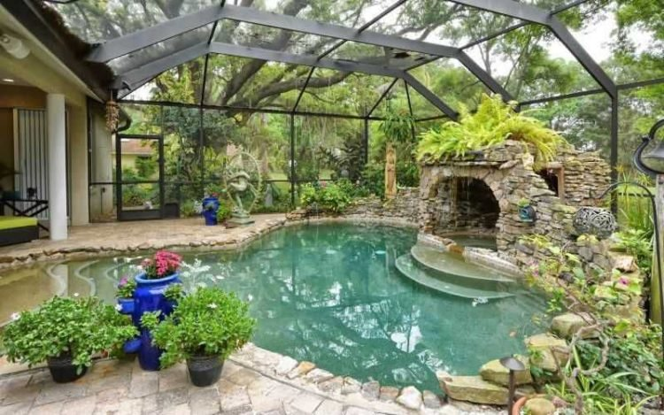 here are 20 backyard pool ideas for the wealthy home owner - Backyard Pool Ideas