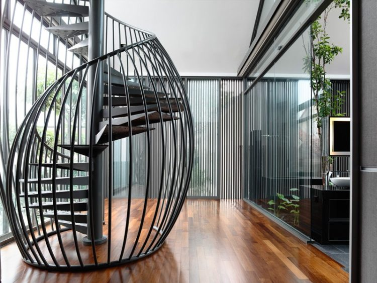 20 gorgeous spiral staircase design ideas for Spiral staircase options