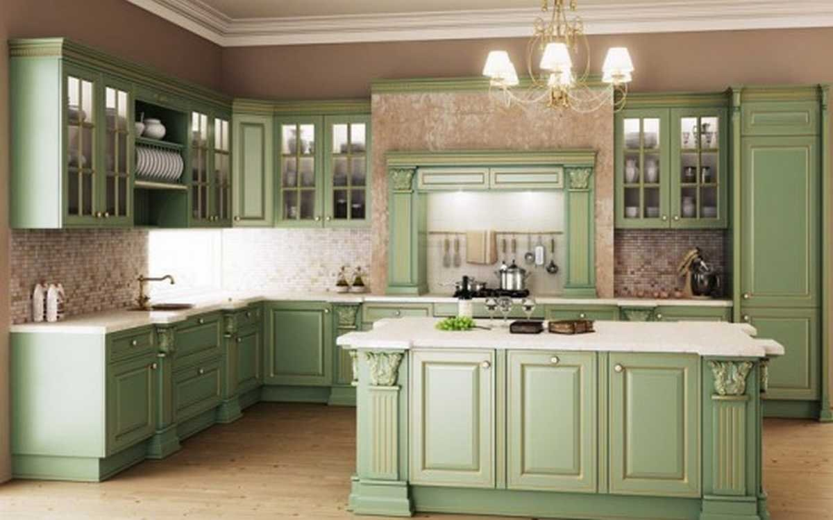 green kitchen floor 20 gorgeous green kitchen design ideas 1409