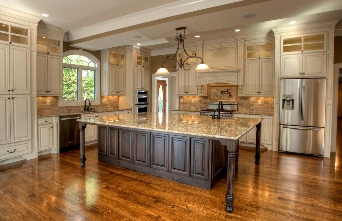 glamorous large island eat kitchen   20 Beautiful Kitchen Island Designs With Columns