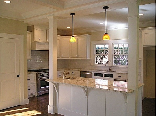 20 Beautiful Kitchen Island Designs With Columns