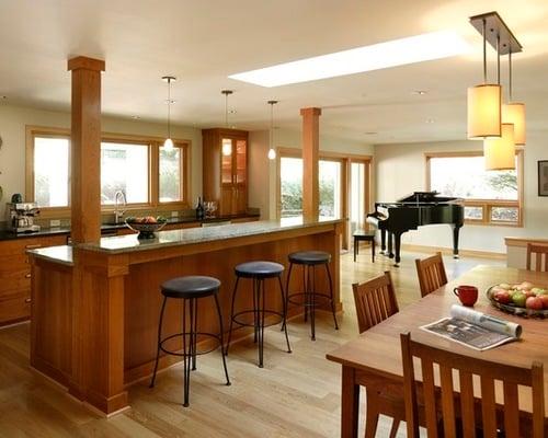 Adding A Bar To A Kitchen Island: 20 Beautiful Kitchen Island Designs With Columns